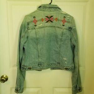 American Eagle Boho Jean Jacket